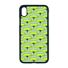 Texture Green Plant Leaves Arches Apple Iphone Xr Seamless Case (black)