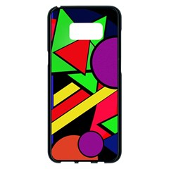 Background Color Art Pattern Form Samsung Galaxy S8 Plus Black Seamless Case by Pakrebo