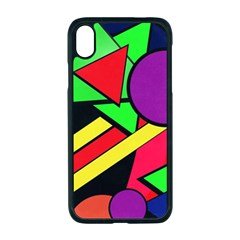 Background Color Art Pattern Form Apple Iphone Xr Seamless Case (black)