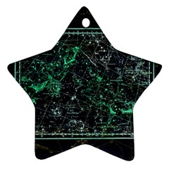 Constellation Constellation Map Star Ornament (two Sides)