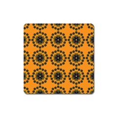 Desktop Abstract Template Flower Square Magnet