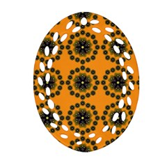 Desktop Abstract Template Flower Ornament (oval Filigree)