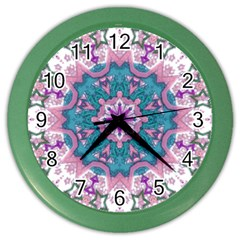 Mandala Pattern Abstract Color Wall Clock