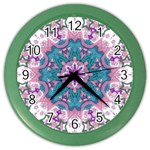 Mandala Pattern Abstract Color Wall Clock Front