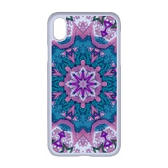 Mandala Pattern Abstract Apple Iphone Xr Seamless Case (white)