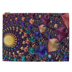 Pattern Art Ornament Fractal Cosmetic Bag (xxl)