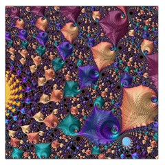 Pattern Art Ornament Fractal Large Satin Scarf (square)