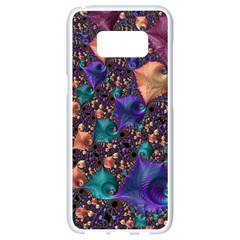 Pattern Art Ornament Fractal Samsung Galaxy S8 White Seamless Case