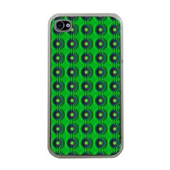 Texture Stucco Graphics Flower Apple Iphone 4 Case (clear)