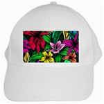 Hibiscus Flower Plant Tropical White Cap Front