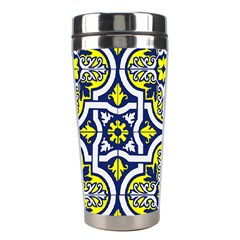 Tiles Panel Decorative Decoration Stainless Steel Travel Tumblers by Pakrebo