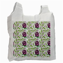 Default Texture Background Floral Recycle Bag (one Side)