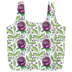 Default Texture Background Floral Full Print Recycle Bag (xl)