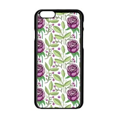Default Texture Background Floral Apple Iphone 6/6s Black Enamel Case