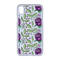 Default Texture Background Floral Apple Iphone Xr Seamless Case (white)