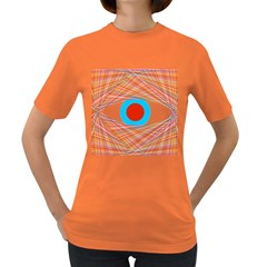 Line Art Geometric Design Line Women s Dark T Shirt