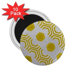 Abstract Background Hexagons 2 25  Magnets (10 Pack)  by Pakrebo