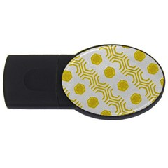 Abstract Background Hexagons Usb Flash Drive Oval (2 Gb)