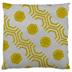 Abstract Background Hexagons Standard Flano Cushion Case (two Sides)
