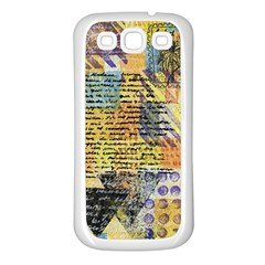 Old Paper Vintage Samsung Galaxy S3 Back Case (white)