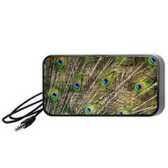 Green Peacock Feathers Color Plumage Portable Speaker