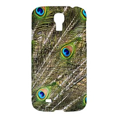 Green Peacock Feathers Color Plumage Samsung Galaxy S4 I9500/i9505 Hardshell Case