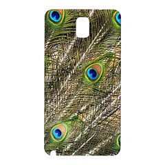 Green Peacock Feathers Color Plumage Samsung Galaxy Note 3 N9005 Hardshell Back Case
