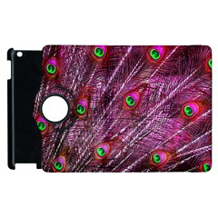 Red Peacock Feathers Color Plumage Apple Ipad 3/4 Flip 360 Case by Pakrebo