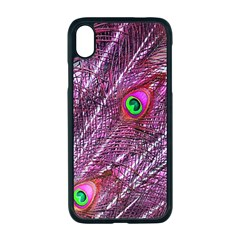 Red Peacock Feathers Color Plumage Apple Iphone Xr Seamless Case (black)