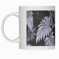 Curtain Ornament Flowers Leaf White Mugs