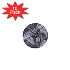 Curtain Ornament Flowers Leaf 1  Mini Buttons (10 Pack)