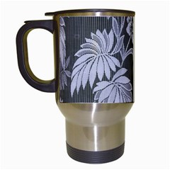 Curtain Ornament Flowers Leaf Travel Mugs (white)
