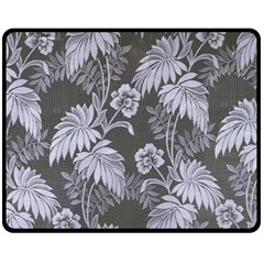 Curtain Ornament Flowers Leaf Fleece Blanket (medium)