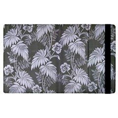 Curtain Ornament Flowers Leaf Apple Ipad 3/4 Flip Case