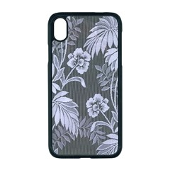 Curtain Ornament Flowers Leaf Apple Iphone Xr Seamless Case (black)