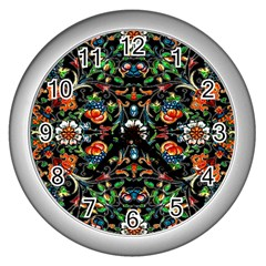Mll 68 Wall Clock (silver) by ArtworkByPatrick