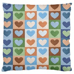 Hearts Aplenty Large Flano Cushion Case (two Sides) by WensdaiAddamns