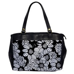 Black & White Floral Oversize Office Handbag by WensdaiAddamns