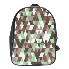Coco Mint Triangles School Bag (large)
