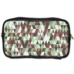 Coco Mint Triangles Toiletries Bag (two Sides) by WensdaiAddamns