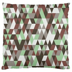 Coco Mint Triangles Large Flano Cushion Case (two Sides) by WensdaiAddamns