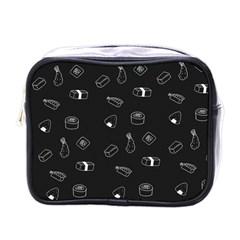 Sushi Pattern   Greyscale Mini Toiletries Bag (one Side) by WensdaiAddamns