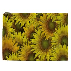 Surreal Sunflowers Cosmetic Bag (xxl)