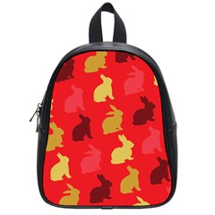 Rabbit, Rabbit   Red School Bag (small) by WensdaiAddamns