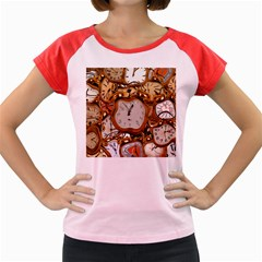 Time Clock Watches Women s Cap Sleeve T Shirt