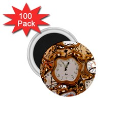 Time Clock Watches 1 75  Magnets (100 Pack)