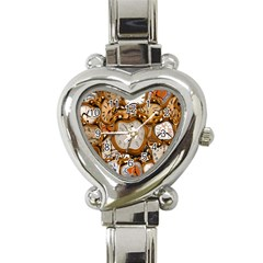 Time Clock Watches Heart Italian Charm Watch