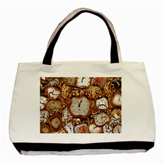 Time Clock Watches Basic Tote Bag