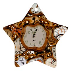 Time Clock Watches Star Ornament (two Sides)