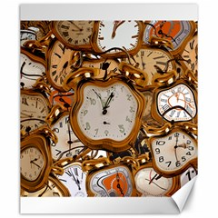 Time Clock Watches Canvas 20  X 24